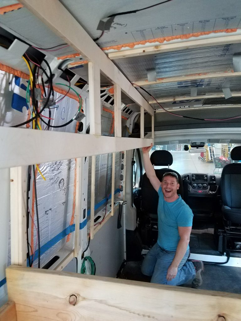 promaster van build cabinets