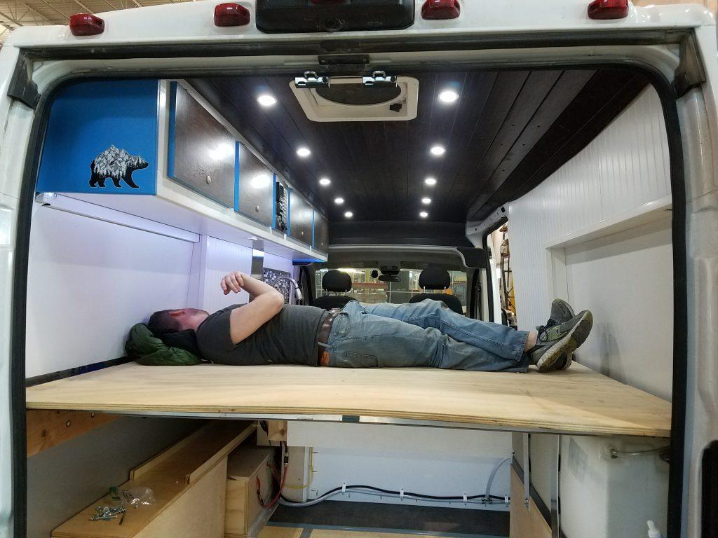 promaster camper van conversion bed