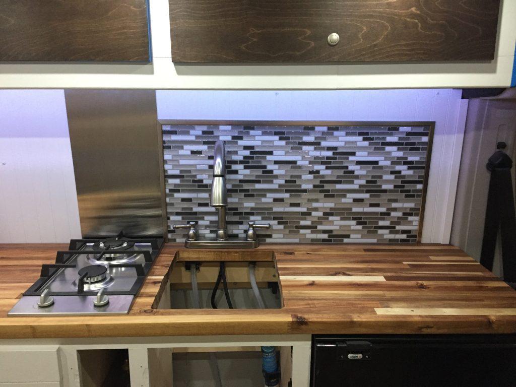 promaster camper van conversion kitchen