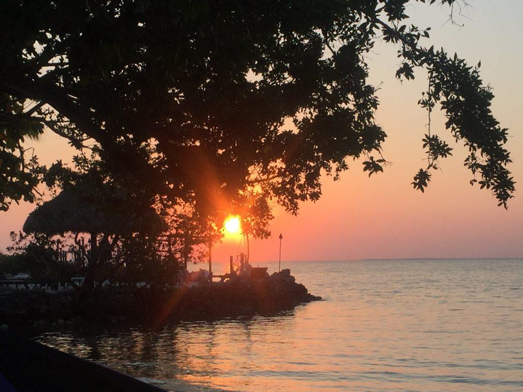 Marker 88 sunset