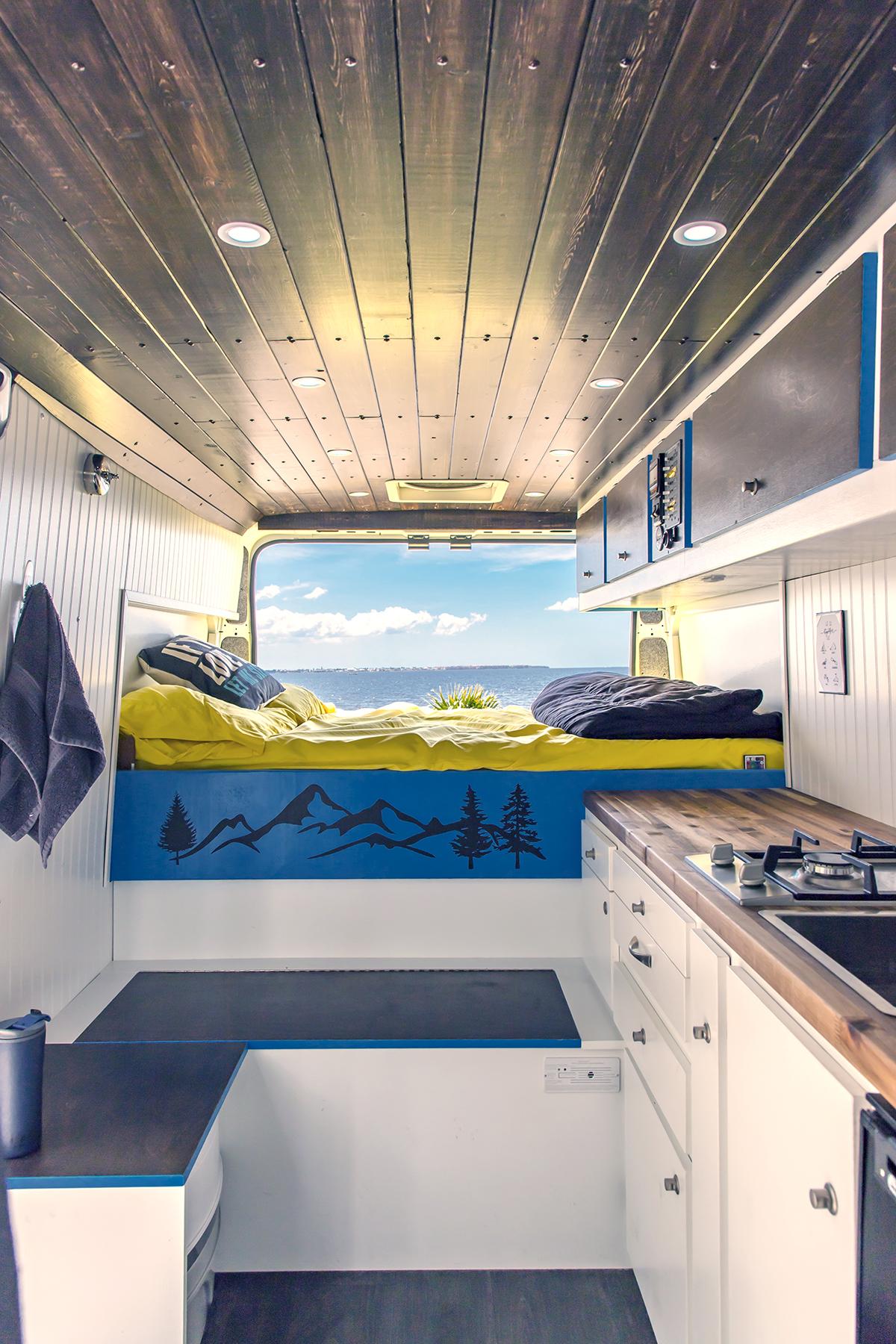 promaster camper van interior vanlife beach life