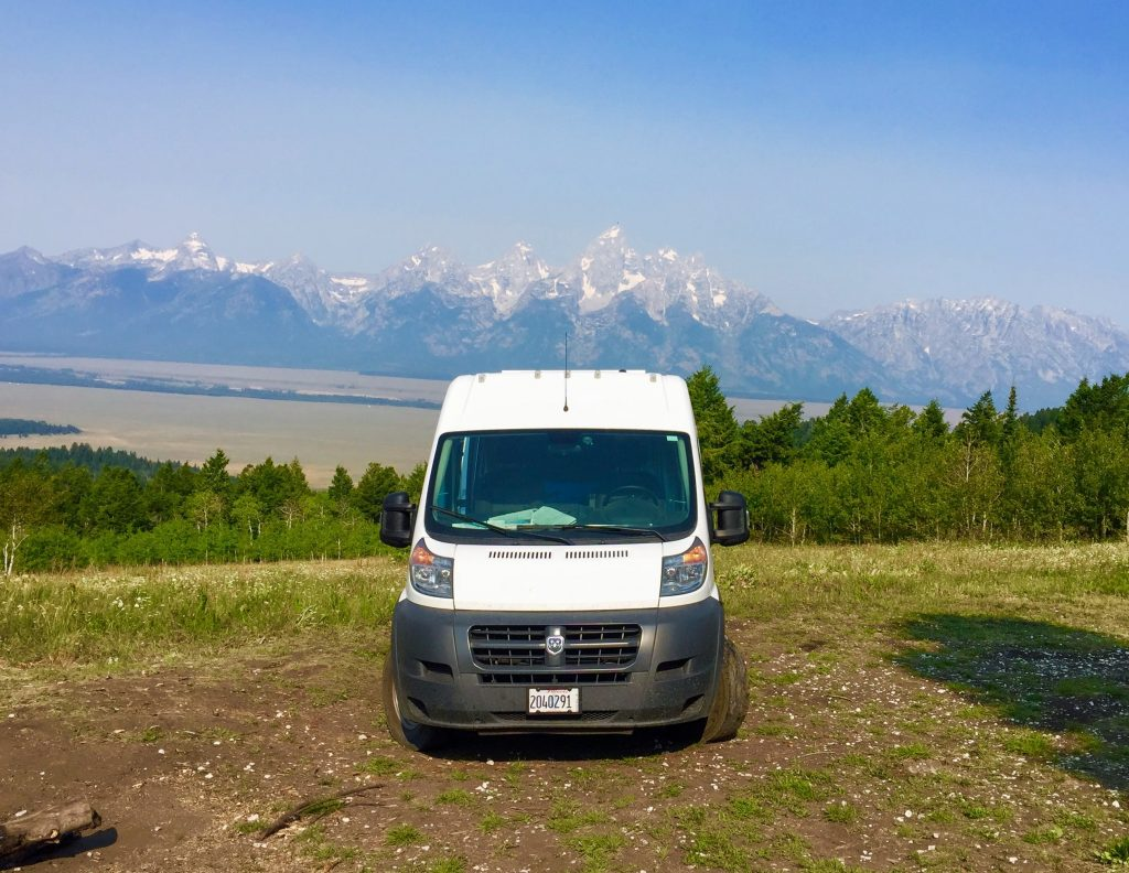 Grand Teton National Park Van life dispersed camping
