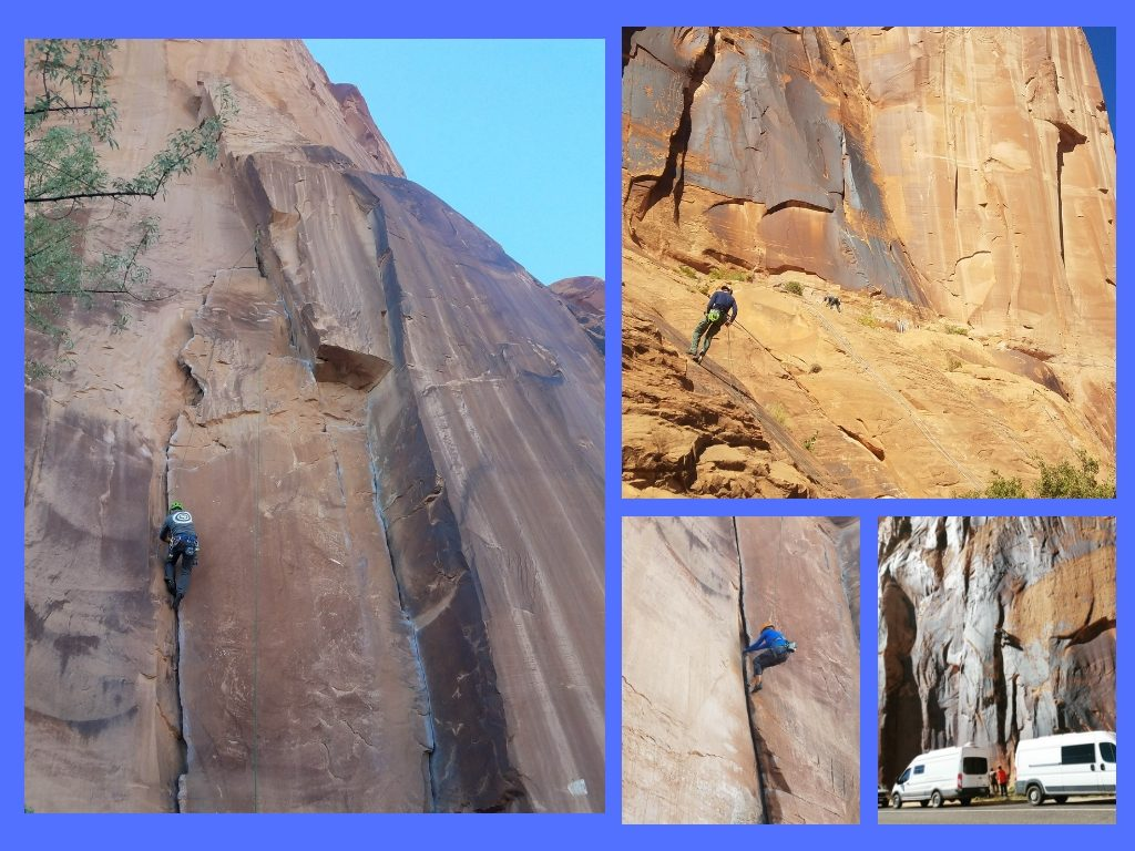 Moab climbing