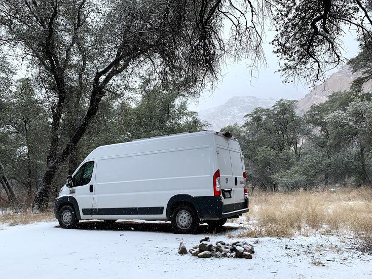 cochise stronghold camper van life